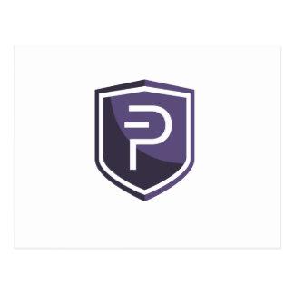 Purple Shield PIVX Postcard