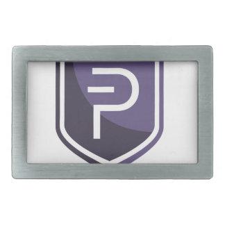 Purple Shield PIVX Rectangular Belt Buckles