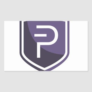 Purple Shield PIVX Rectangular Sticker