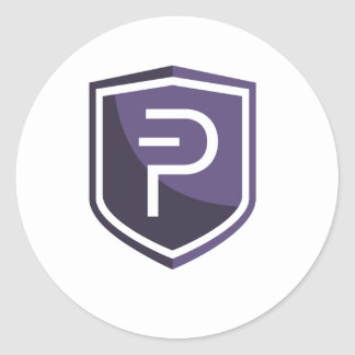 Purple Shield PIVX Round Sticker