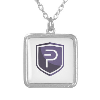 Purple Shield PIVX Silver Plated Necklace