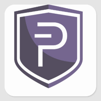 Purple Shield PIVX Square Sticker