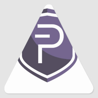Purple Shield PIVX Triangle Sticker