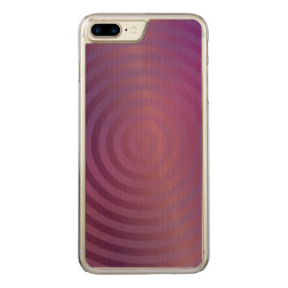 Purple shiny circles carved iPhone 8 plus/7 plus case