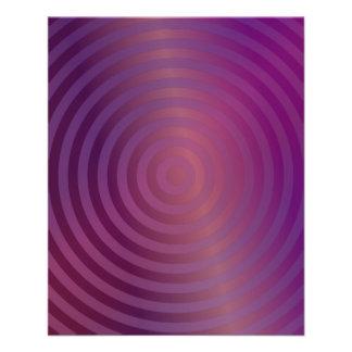 Purple shiny circles custom flyer