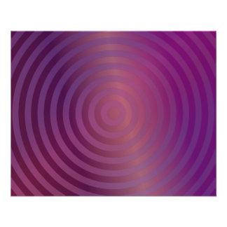 Purple shiny circles full color flyer