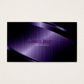 Purple Shiny Metallic Brushed Aluminum Look Business Card