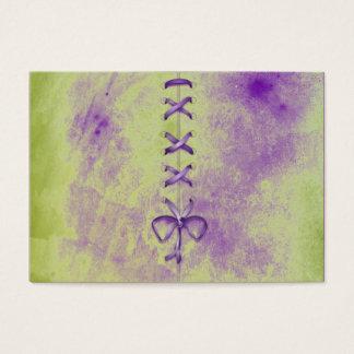 Purple Shoe Laces Business Card