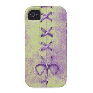 Purple Shoe Laces iPhone 4 Case
