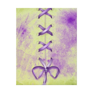 Purple Shoe Laces Gallery Wrapped Canvas