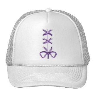 Purple Shoe Laces Mesh Hat