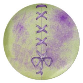 Purple Shoe Laces Dinner Plates