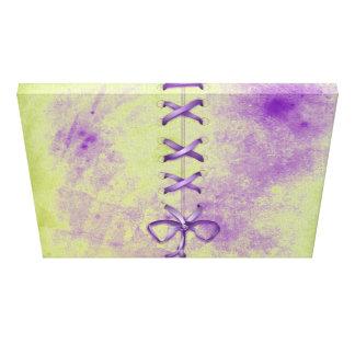 Purple Shoe Laces Stretched Canvas Print