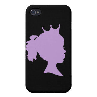 Purple Silhouette Princess and Gifts iPhone 4 Cases