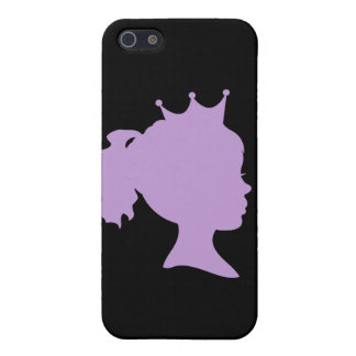 Purple Silhouette Princess T-shirts and Gifts Covers For iPhone 5