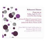 Purple & Silver Dot Rehearsal Dinner Postcard