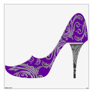 Purple silver girly fashion shoe