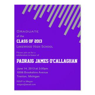 Purple & Silver Graduation Invitation
