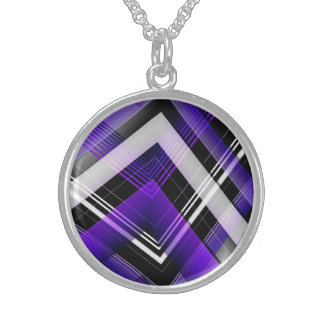 Purple Silver Plated Necklace for Women