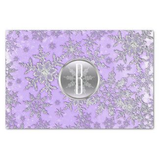 Purple Silver Snowflakes Winter Wonderland Tissue Paper