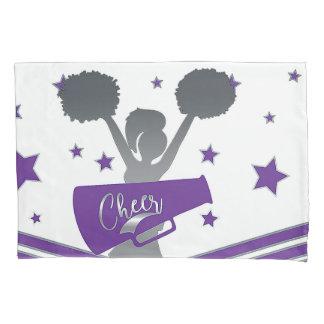 Purple & Silver Stars Cheer Cheer-leading Girls Pillowcase