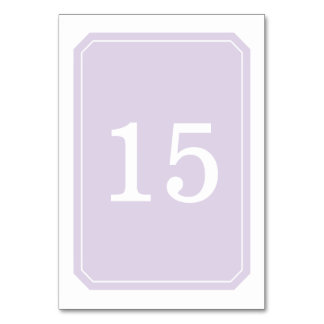 Purple Simply Elegant Table Card