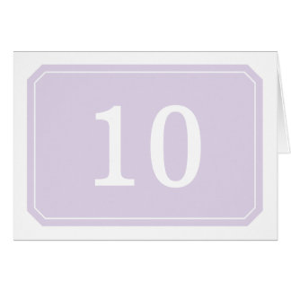 Purple Simply Elegant Table Number Card