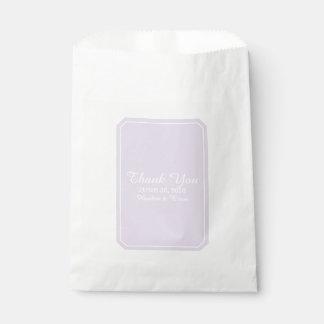 Purple Simply Elegant Wedding Favour Bag