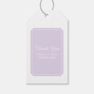 Purple Simply Elegant Wedding Gift Tags