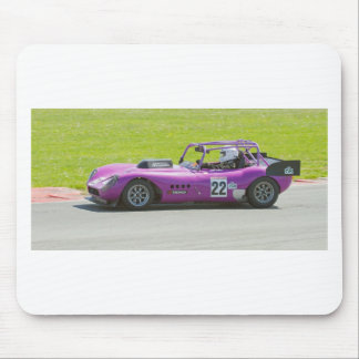Purple single seater racing car mousepad