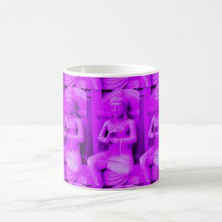 purple sitting buddhas coffee mug