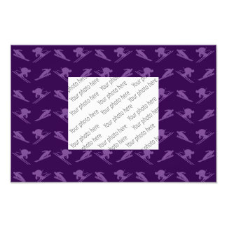 Purple ski pattern photo print