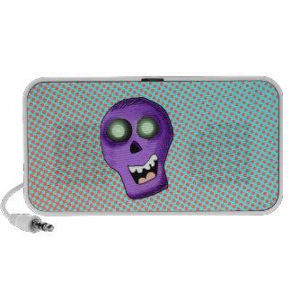 Purple Skull  Doodle Mp3 Speakers