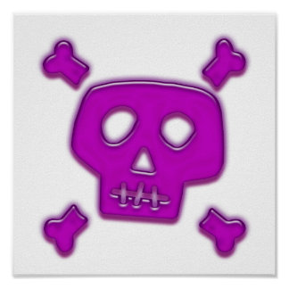 Purple Skull Posters