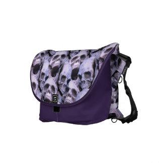 Purple Skulls Messenger Bags