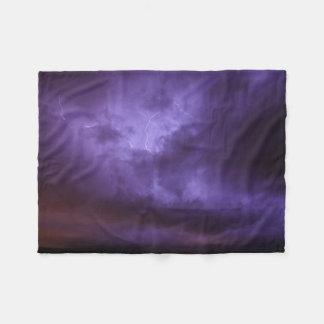 Purple Sky Lightning Fleece Blanket