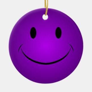 Purple Smiley Face Ornament
