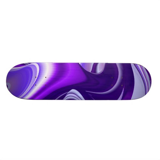 Purple Snow Dream , Abstract Fantasy Rainbow-Art Skateboard Decks