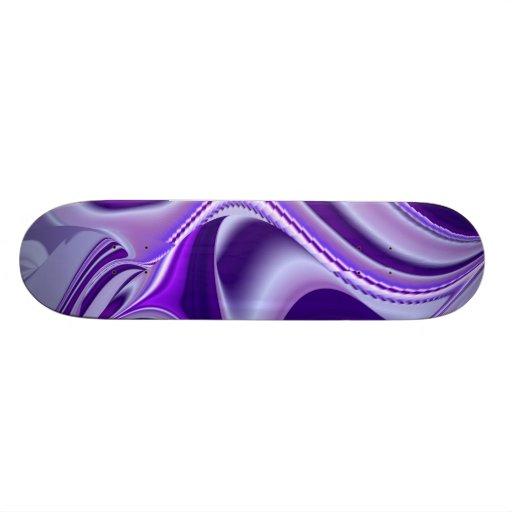 Purple Snow Dream , Abstract Fantasy Rainbow-Art Skateboard Deck