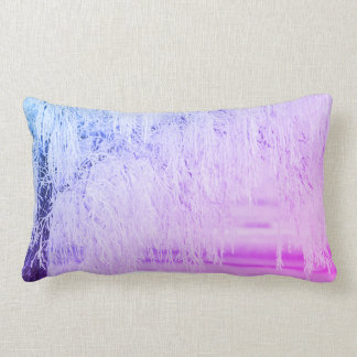 Purple Snow scene bling Lumbar Cushion