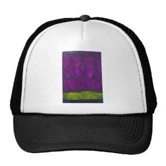 Purple Snowfall (abstract landscape expressionism) Cap