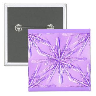 purple_snowflake 15 cm square badge