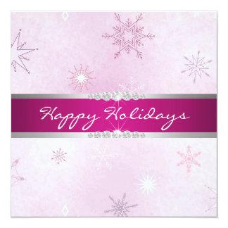 Purple Snowflake Holiday Invitation
