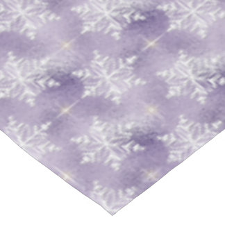 Purple snowflake pattern Holiday tablecloth
