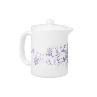 Purple Snowflake Teapot