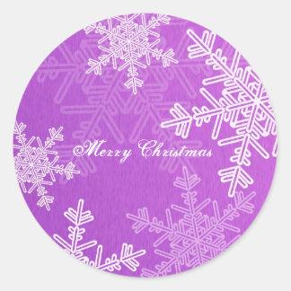 Purple Snowflakes Christmas  Sticker