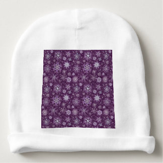 Purple Snowflakes for Chronic Pain Baby Beanie