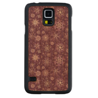 Purple Snowflakes for Chronic Pain Carved Cherry Galaxy S5 Case