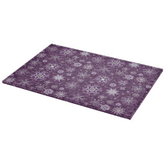 Purple Snowflakes for Chronic Pain Cutting Board