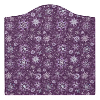 Purple Snowflakes for Chronic Pain Door Sign